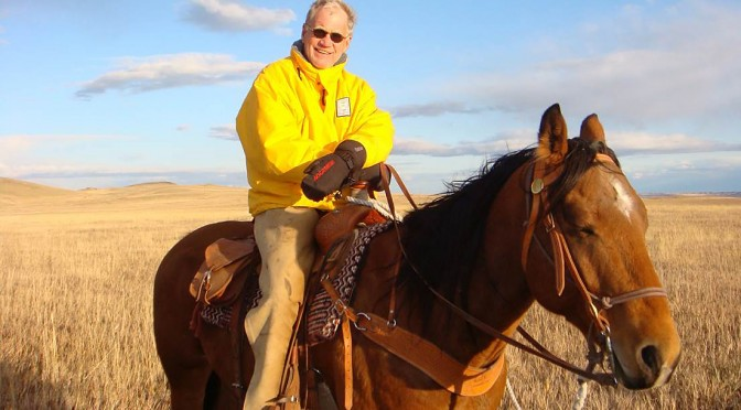 David Letterman on his ranch in northwest Montana (courtesy photo)
